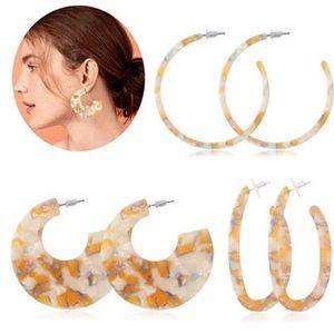 Jewelry - ‼️BOGO FREE BaubleBar Style Acrylic Hoop Earrings